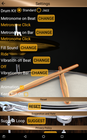 Simple drum set – best virtual drum pad kit with real metronome.