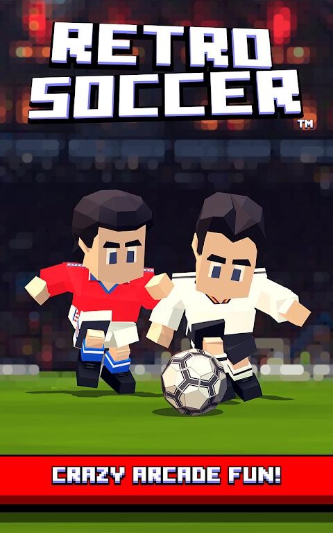 Retro Soccer - Arcade Football Game screenshot 1