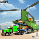 US Police Train Transporter Truck Robot Stunt Game
