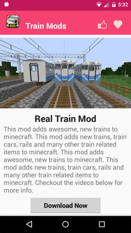 Train Mod For MCPE  1 1 Download APK for Android - Aptoide