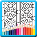 Pattern art colouring pages