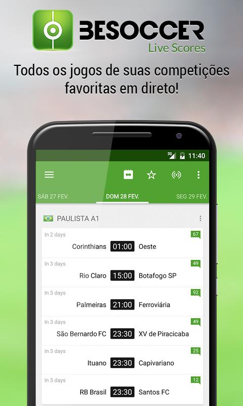 BeSoccer - Resultados futebol screenshot 1