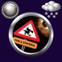 Halloween Clock Weather Widget