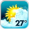Animated Weather Widget&Clock Icon