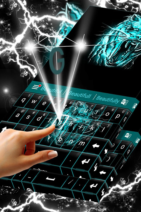 Neon Keyboard Tiger screenshot 2
