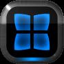 next launcher theme neon blue icon