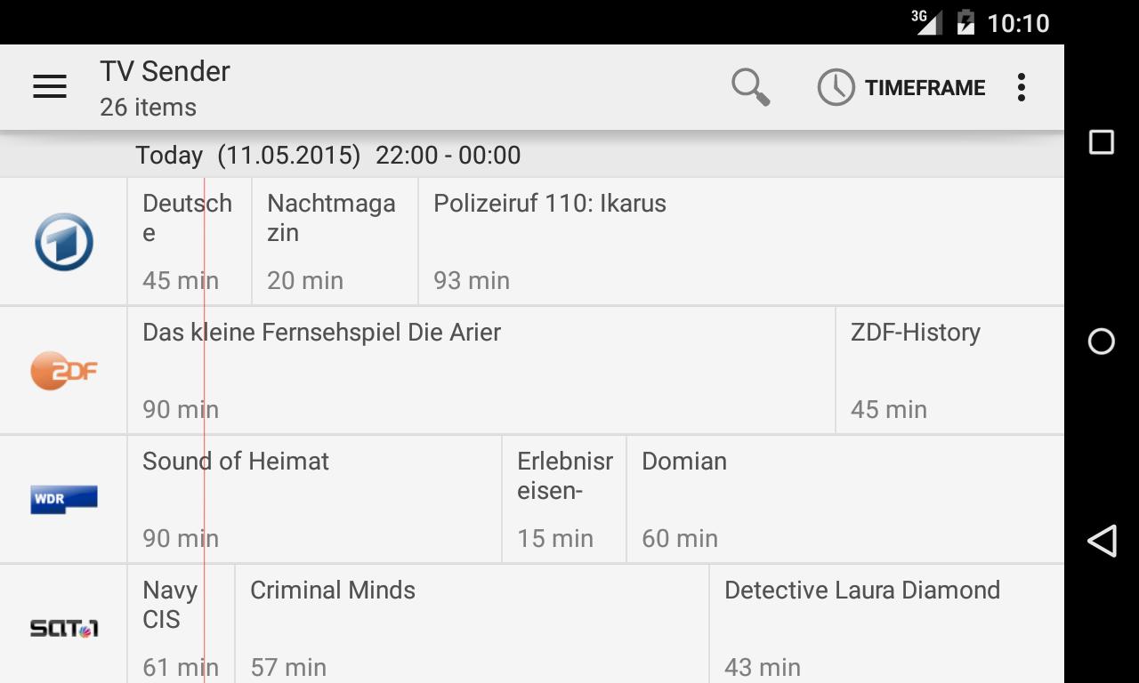 TVHClient screenshot 1