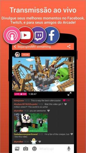 Omlet Arcade - Live do seu celular screenshot 1
