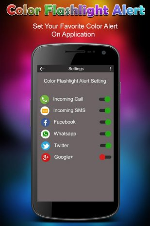 flashlight alert iphone