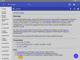 English Dictionary - Offline Screen