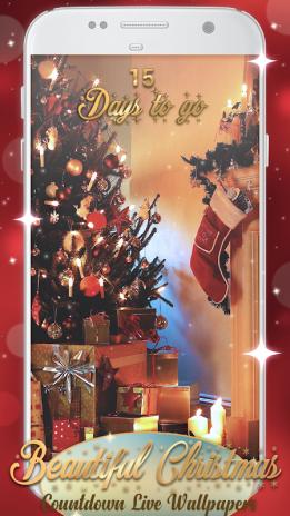 Beautiful Christmas Countdown Live Wallpaper Screenshot 1