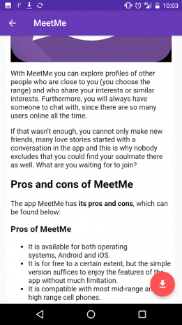 is the meet me app a dating site