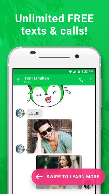Nextplus Free SMS Text + Calls screenshot 1