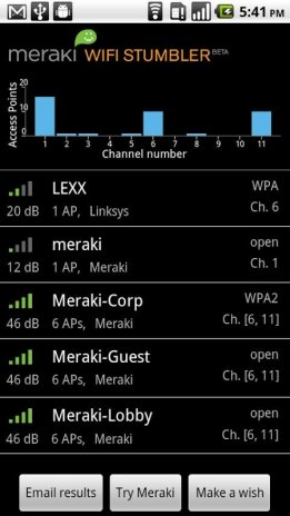 Meraki tools wifi stumbler download.