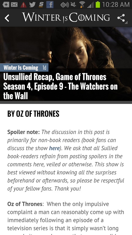 Game of Thrones News App - WiC screenshot 2