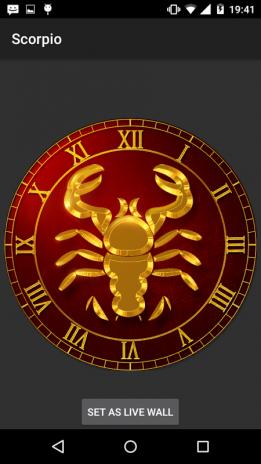 Scorpio Live Wallpaper 1