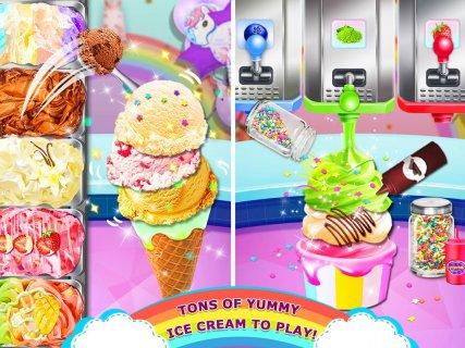 Rainbow Ice Cream - Unicorn Party Food Maker screenshot 4