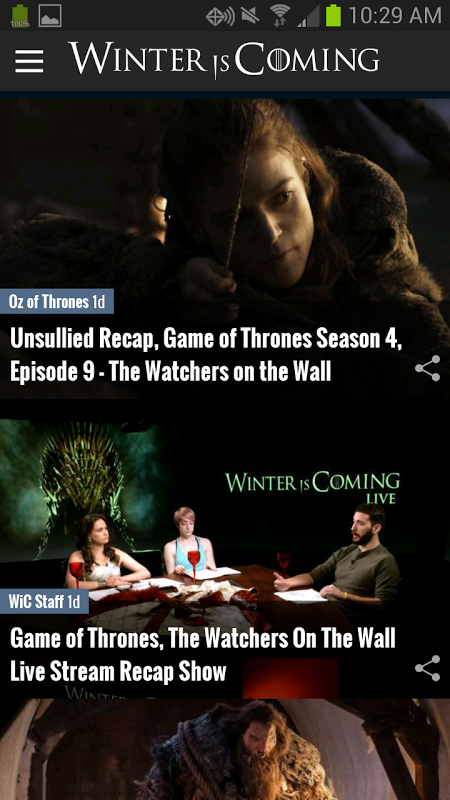 Game of Thrones News App - WiC screenshot 1