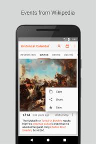 Historical Calendar - Events and Quizzes screenshot 3