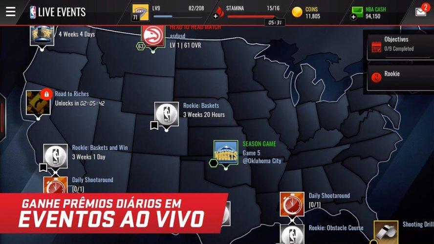 NBA LIVE Mobile Basquete screenshot 3