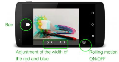 3D Video Camera Screen
