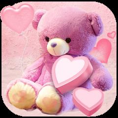 pink cute bear wallpaper icon