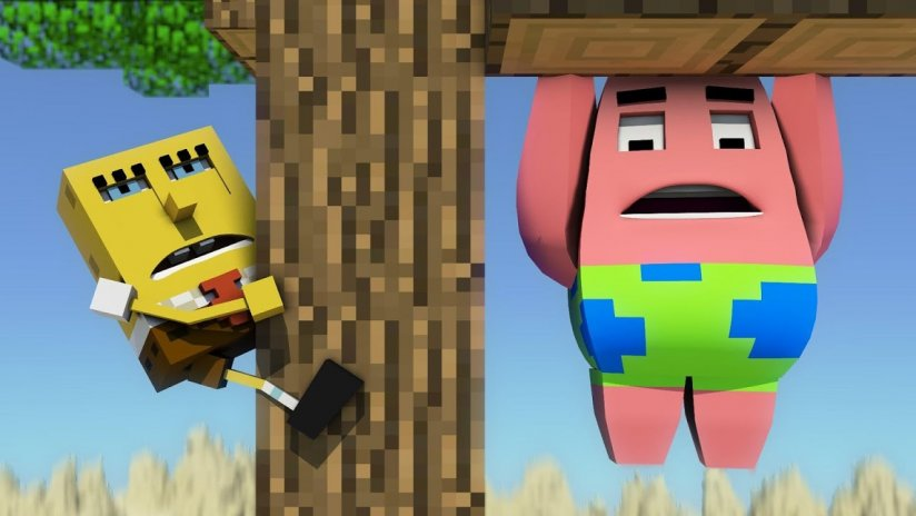 minecraft and spongebob
