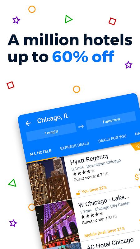 Priceline - Hotels, Rental Cars and Cheap Flights screenshot 1