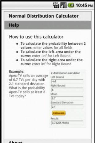 Normal Distribution Calculator 1 4 APK دانلود برای اندروید