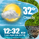 Hourly Weather Widget for 2019