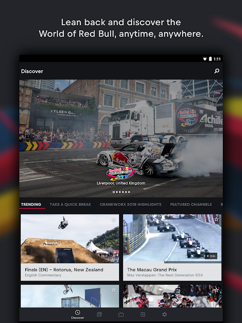Red Bull TV: Live Sports, Music & Entertainment screenshot 1
