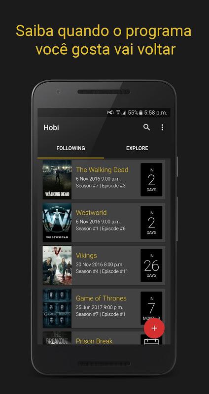 Hobi - Trakt client & Aviso de Programa de TV screenshot 1