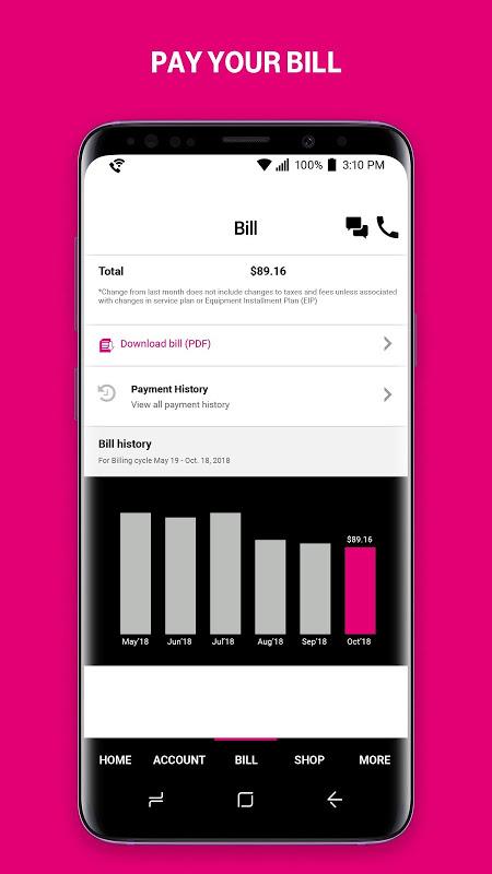 T-Mobile screenshot 1