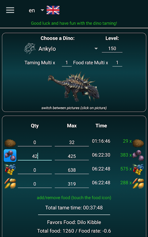 A-Calc | A-Guide taming: Ark Survival Evolved screenshot 3