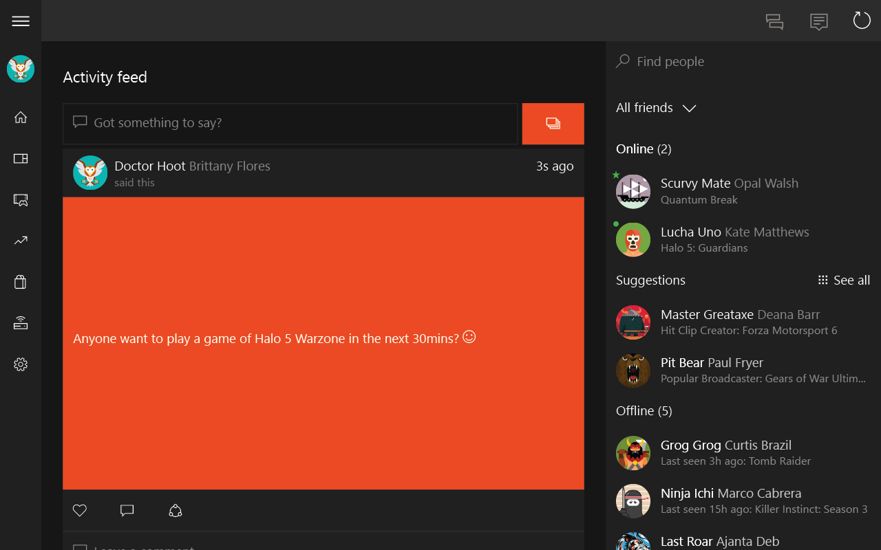 Xbox beta screenshot 1