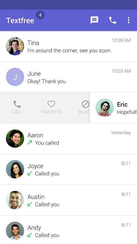 Text Free: Free Text Plus Call screenshot 1