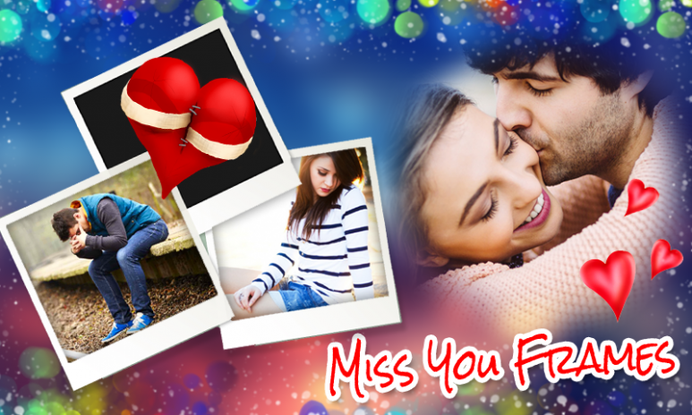 miss you photo frames new screenshot 1 - Miss You Picture Frames