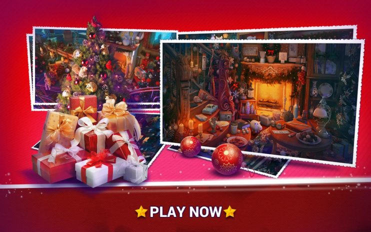Hidden Objects Christmas Holiday Puzzle Game Screenshot 4