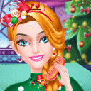 Christmas Princess Makeup and Dress Up Salon Game