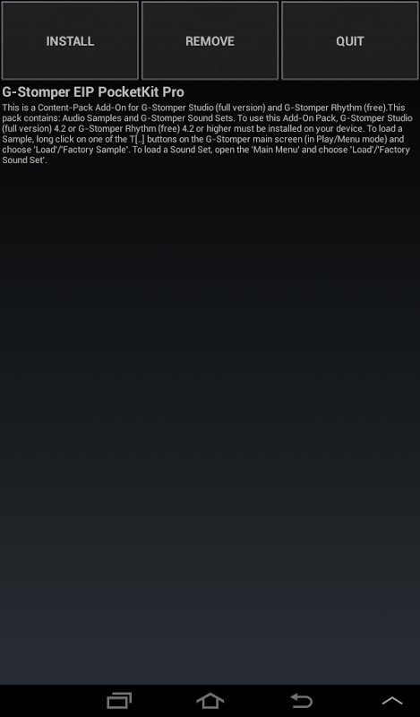 G-Stomper PocketKit Pro screenshot 2