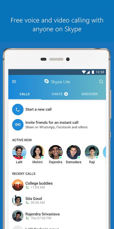Skype Lite - Free Video Call & Chat screenshot 2