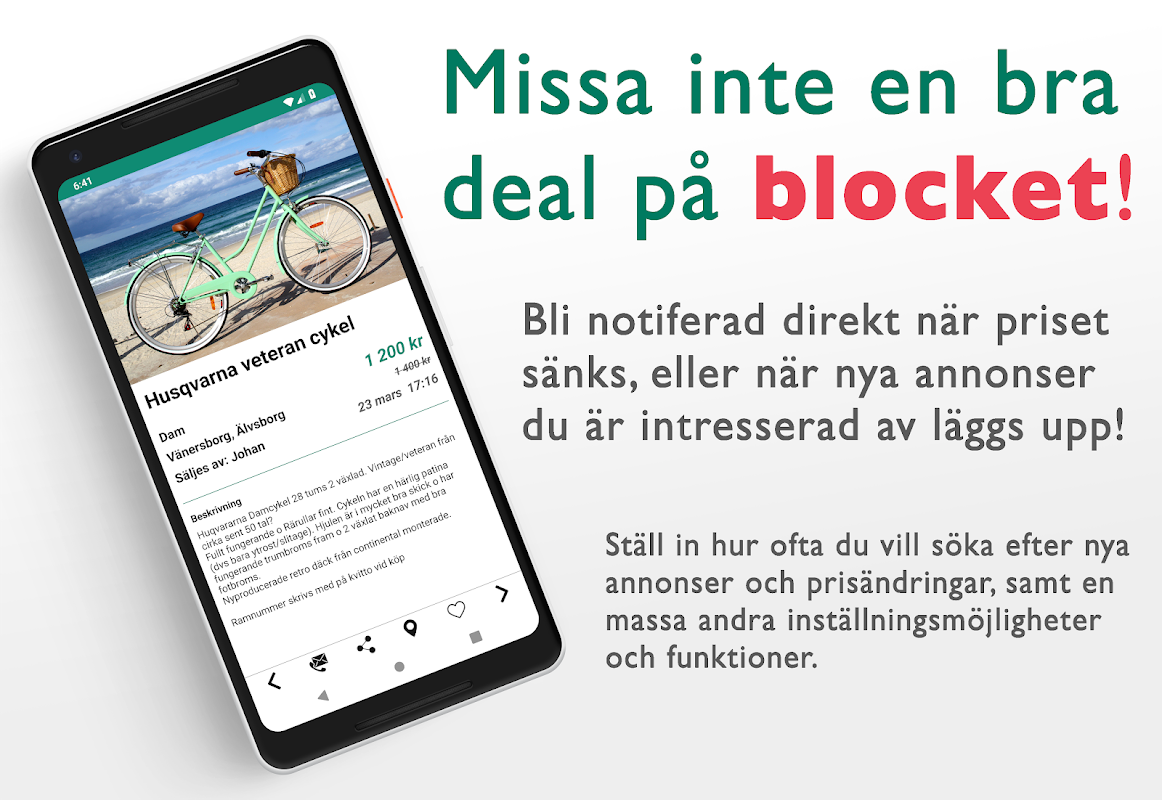 Blocket with Blockdroid - Search and monitor ads! screenshot 1