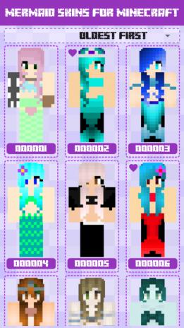 Mermaid Skins For Minecraft Pe 100123 Descargar Apk Para - download skin based off my roblox character minecraft skin