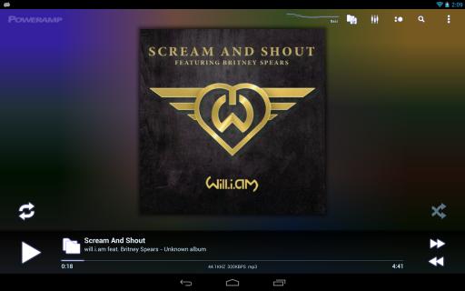 Poweramp screenshot 1
