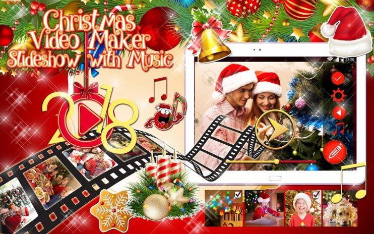 christmas video maker slideshow with music screenshot 7