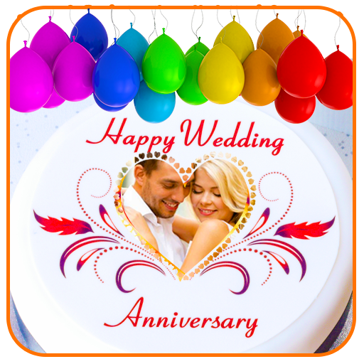 Name Photo On Anniversary Cake Frames Filters Icon