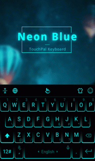 Neon Blue Keyboard Theme 6 6 23 2019 Download APK for