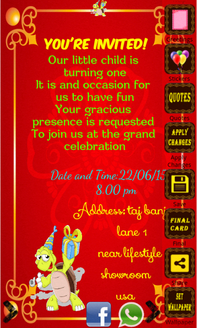 Birthday invitation card maker download apk for android for Wedding invitation free online for whatsapp