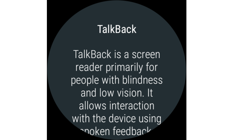 Google TalkBack screenshot 1