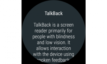 Google TalkBack Screenshot